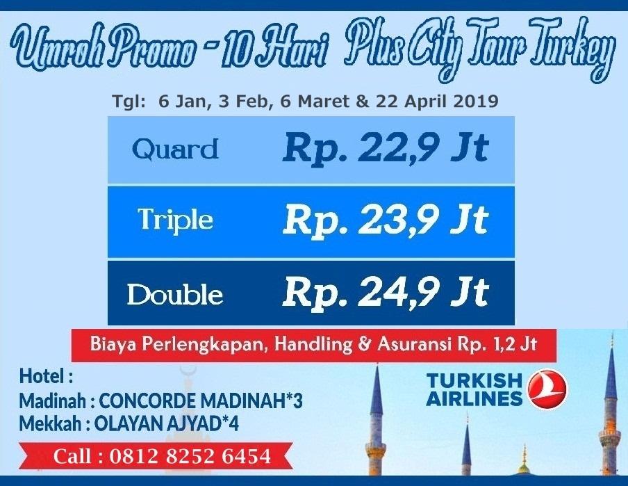 Umroh Plus City Tour Turki Februari 2019