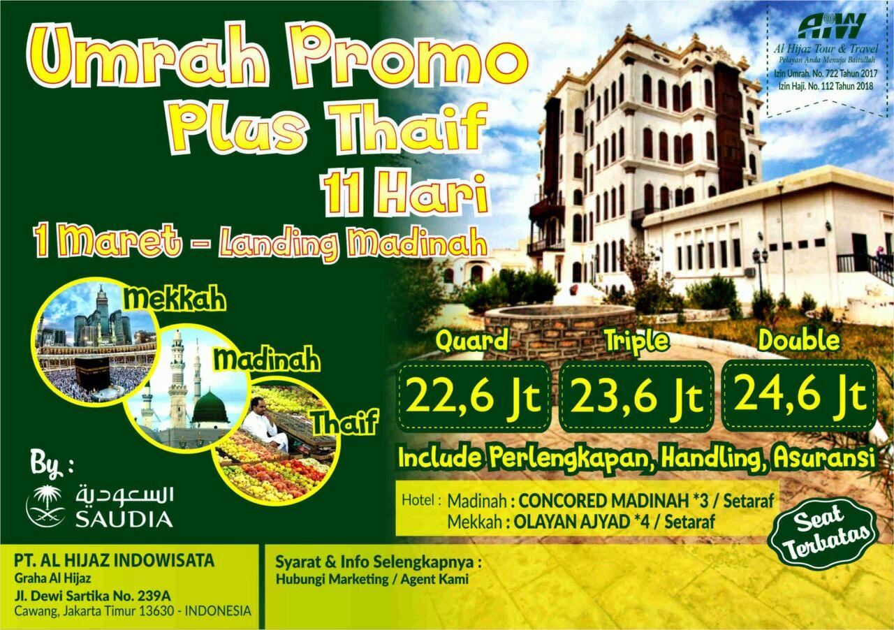 Paket Umroh Plus Thaif 2019 11 Hari